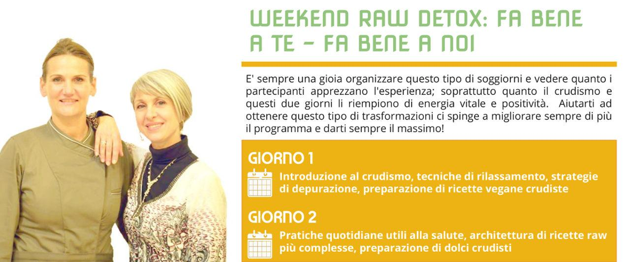 weekend benessere raw detox programma